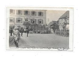 68 - Carte Photo DANNEMARIE : 7 Aout 1917 , Défilé Du 144 Ième Régiment - Dannemarie