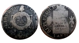 RARE!!! 1 SOL AUX BALANCES 1793 D. (Dijon) N°2 Sans Différent A VOIR!!! - 1789-1795 Periode Franse Revolutie