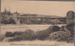 Cpa 04-3 GREOUX LES BAINS Pont Du Verdon (maison Du Docteur RIGAL ) édition Jugy Tabacs - Gréoux-les-Bains