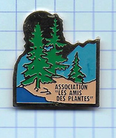 Pin's Pins / Beau ASSOCIATION Des AMIS Des PLANTES ( Marquage DOS PIN S TOP - Associations