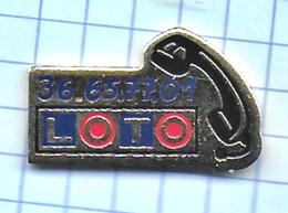 Pin's Pins / Beau  LOTO 36 65 77 01 Française De JEUX De Hasard Loterie Nationale Française L - Jeux