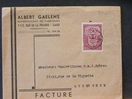 77/224    LETTRE 1946  FACTURE - Belgium