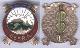 Insigne Du 66e Régiment D'Artillerie - Armée De Terre