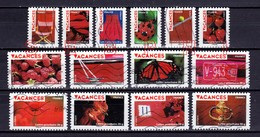 / FRANCE 2009 :  VACANCES ROUGES / SERIE COMPLETE - Used Stamps