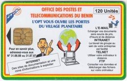 BENIN A-035 Chip L'OPT - Communication, Internet - Used - Benin