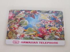 HAW-76 Koi Fish And Flowers,mint - Hawaii