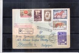 Lettre Recommandée De Riga Vers Bruxelles- 1959 (à Voir) - Lettonie