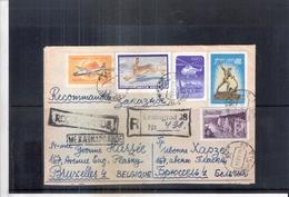 Lettre Recommandée De Léningrad 28 Vers Bruxelles- 1959 (à Voir) - 1923-1991 URSS