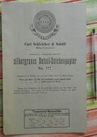 Papier Carl Schleicher Und Schüll, Düren Rheinland - Silbergraues Detail Zeichenpapier N°461 - 1884 - Imprimerie & Papeterie
