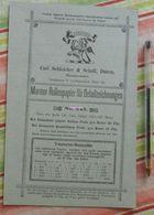 Papier Carl Schleicher Und Schüll, Düren Rheinland - Marmor-Rollenpapier N°545 - 1885 - Imprimerie & Papeterie