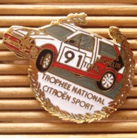 Pin's Citroën Rallye, Total - Michelin, Pins Pin, TBQ. - Citroën