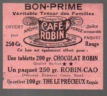 Montmoreau (16 Charente) Bon Prime CAFE ROBIN (PPP13169) - Advertising