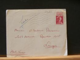 77/250    LETTRE FRANCE 1955 TIMBRE PUB GRAMMONT - Marcofilie (Brieven)
