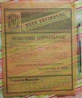 Papier Carl Schleicher Und Schüll, Düren Rheinland - Pneumatischer Lichtpauseapparat - 1886 - Imprimerie & Papeterie