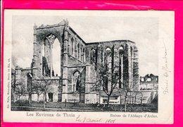 Cpa Carte Postale Ancienne  - Thuin Ruines De L Abbaye D Aulne - Thuin