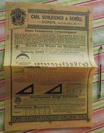 Papier Carl Schleicher Und Schüll, Düren Rheinland - Lichtpauseapparat, Hartgummi, Kreiswinkel - 1890 - Imprimerie & Papeterie