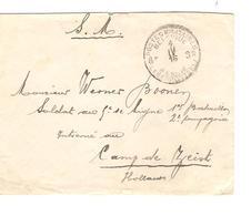 Guerre-Oorlog 14-18 Lettre S.M.PMB-BLP 8 Bis 1916 écrit Du Camp Du Ruchard V.Camp De Zeist JS293 - Esercito Belga