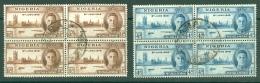 Nigeria: 1946   Victory      Used Blocks Of 4 - Nigeria (...-1960)