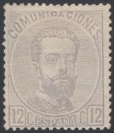 España Spain 122 1872 Amadeo I MH - Espagne