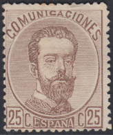 España Spain 124 1872 Amadeo I MH Stamps - Sin Clasificación