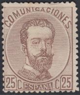 España Spain 124 1872 Amadeo I MH Stamps - Espagne