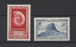 ALGERIE . YT 297/298 Neuf *   19e Congrès De Géologie à Alger  1952 - Algerien (1924-1962)