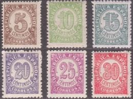 España Spain 745/50 1938 Cifras Numbers Stamps MNH - Sin Clasificación