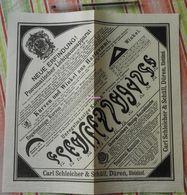 Papier Carl Schleicher Und Schüll - Pneumatischer Lichtpauseapparat - Kurven Und Winkel Aus Hartgummi - 1888 - Buvard - Stationeries (flat Articles)
