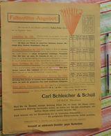 Papier Carl Schleicher Und Schüll, Düren Rheinland - Faltenfilter - Novembre 1893 - Imprimerie & Papeterie