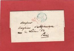 LAC - Bureau De Poste Chambre Des Députés 18?? Cachet Bleu 6e Dist - Marcophilie (Lettres)
