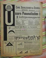 Papier Carl Schleicher Und Schüll, Düren Rheinland - Pneumatischer Lichtpauseapparat - Kurven Und Winkel - 1893 - Imprimerie & Papeterie