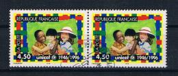 Frankreich 1996 Kinder Mi.Nr. 3175 Waagr. Paar Gestempelt - Frankreich