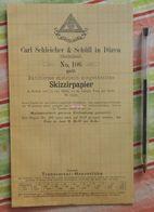 Papier Millémétré Carl Schleicher Und Schüll, Düren Rheinland - Skizzirpapier N°106 - 1889 - Imprimerie & Papeterie