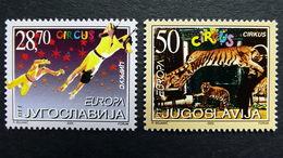 Jugoslawien 3076/7 **/mnh, EUROPA/CEPT 2002, Zirkus - Ongebruikt