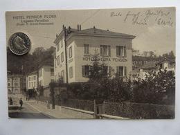 Lugano-Paradiso, Hotel Pension Flora, Schweiz, 1926 - TI Tessin
