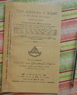 Papier Millémétré Carl Schleicher Und Schüll, Düren Rheinland - Skizzir Und Querprofil Papier - 1892 - Imprimerie & Papeterie
