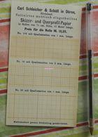 Papier Millimétré Carl Schleicher Und Schüll, Düren Rheinland - Skizzir Und Querprofil Papier - 1892 - Imprimerie & Papeterie