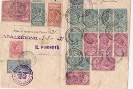 Ausschnitt Mit Steuermarken (br4418) - 1900-44 Vittorio Emanuele III