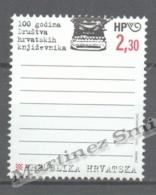 Croatia - Croatie - Croacia 2000 Yvert 508, Centenary Croatian Writers Association - MNH - Croacia