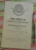 Papier Charles Schleicher Et Schüll, Düren, Prusse Rhénane - Papier Satiné N°50 - écrit En Français - 1883 - Imprimerie & Papeterie