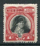 Niue 1944-46 Pictorials - Mult. Wmk. - 1d Captain Cook HM (SG 90) - Niue