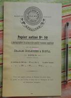 Papier Charles Schleicher Et Schüll, Prusse Rhénane - Papier Satiné N°50 - écrit En Français - 1883 - Avec Filigrane - Imprimerie & Papeterie