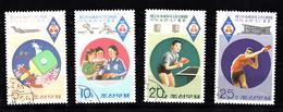 Korea Noord 1996 Mi Nr 1484 - 1487 Sport, Tafeltennis, Ping-pong, Table Tennis - Korea (Noord)