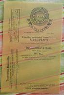 Pause-papier Carl Schleicher Und Schüll, Düren Rheinland - N°111 - 1884 - Imprimerie & Papeterie