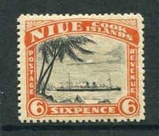 Niue 1944-46 Pictorials - Mult. Wmk. - 6d RMS Monowai HM (SG 94) - Niue