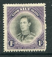 Niue 1944-46 Pictorials - Mult. Wmk. - 1/- King George VI HM (SG 95) - Niue