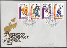 Liechtenstein: FDC, Judo, Pallavolo, Staffetta, Salto In Lungo, Judo, Volleyball, Relay, Long Jump, Judo, Volleyball, Re - Estate 1976: Montreal