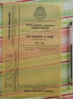 Pause-papier Carl Schleicher Und Schüll, Düren Rheinland - N°111 - 1885 - Imprimerie & Papeterie