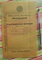 Pause-papier Carl Schleicher Und Schüll, Düren Rheinland - N°123 Et 108,5 - 1882 - Imprimerie & Papeterie