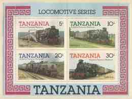 Tanzania 1985 Mi B 44 YT B 41 ** Tanzanian Railways Steam Locomotives / Dampflokomotiven - Tanzania (1964-...)